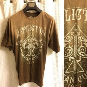AFFLICTION Mens T-Shirt DEATH SPADE Tee Shirt 4XL